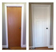DIY flat panel door dress up inspiration Hmmmm I might consider this option.....