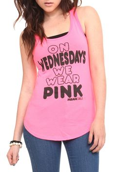 It's Wednesday. If you're not wearing pink, you can't eat lunch with us.