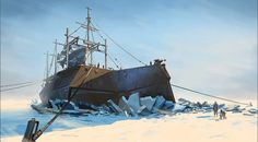 Dishonored Concept Art - Whaling Ship
