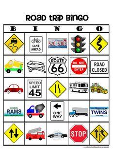Road Trip Bingo . . .