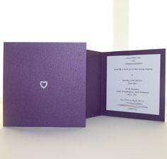 Cadburys Purple Square Wedding Invitation or Thank you card - Vintage Wedding Stationery Scotland - VOWS Award Nominee 2013 Square Wedding Invitations, Wedding Invitation Design, Invitation Ideas, Purple Wedding Stationery, Dot Texture, Powder Pink, Vintage Pink, Vows, Thank You Cards