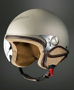 Borsalino Helmets And Hats: The Most Stylish Way To Protect your Noggin Motorcycle Helmets For Sale, Motorcycle Equipment, Motorcycle Gear, Bike Helmets, Scooter Helmet, Cafe Racer Helmet, Kick Scooter, Cool Motorcycles, Vintage Motorcycles
