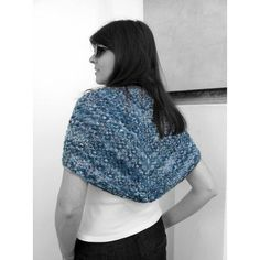branda (€19) ❤ liked on Polyvore featuring lace shawl, lacy shawl, shawl scarves, wrap shawl and hand knit scarves