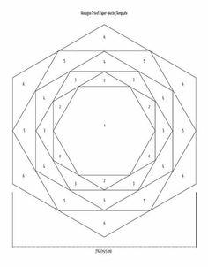 Hexagon Patchwork, Crazy Patchwork, Hexagon Quilt, Quilt Patterns Free, Pattern Blocks, Quilting Tutorials, Quilting Designs, Paper Peicing Patterns, Christmas Mug Rugs