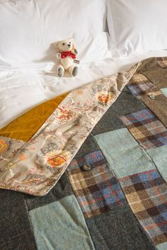 Birtish Made Quilts, Blankets, Cushions By Lisa Watson. Bespoke Quilt Commissions Make Incredible One Of A Kind Memory Gifts, Baby Gifts or Wedding Gifts. Cotton Quilts, Cotton Fabric, Lisa Watson, Wool Felt, Felted Wool, Memorial Gifts, Harris Tweed, Colour Schemes, Quilt Patterns