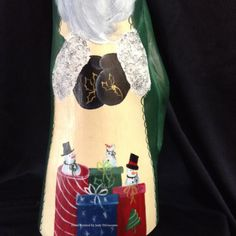 Cypress Knee Santa Green Presents by gourdsandKneesbyJudy on Etsy