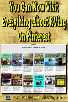 You can now visit Everything About RVing on Pinterest. Stop on by and stay awhile http://www.pinterest.com/rvingal1/everything-about-rving/ Happy RVing! #pinterest #rving #rv #camping #leisure #outdoors #rver #motorhome #travel