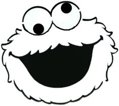 Cookie monster face template