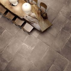 Unika porcelain stoneware tile by ABK / Italy Imitation Parquet, Spanish Tile, Bronze, Dining Room Inspiration, Wall And Floor Tiles, Porcelain Tile, Interior Architecture, Stoneware, Wall Lights