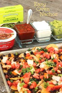 These Easy Oven Nachos are always a hit! With the help of Peakfection they are even easier and so delicious!