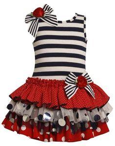 Bonnie Jean Little Girls 2T-6X Striped Knit to Multi Tiered Mix-Print Drop Waist Dress Bonnie Jean, http://www.amazon.com/dp/B00B31SGME/ref=cm_sw_r_pi_dp_5y3-qb1SN1A1R