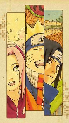 Team 7 - Sakura, Sasuke and Naruto Naruto Shippuden Sasuke, Naruto Kakashi, Anime Naruto, Naruto Team 7, Art Naruto, Naruto Sasuke Sakura, Wallpaper Naruto Shippuden, Boruto, Team Minato