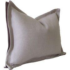 Slubby Linen Double Flange Pillow