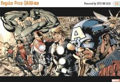"ON SALE Counted Cross Stitch Pattern PDF chart - Marvel superheroes - 23.64"" x 14.79"" - L950"