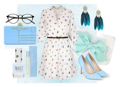 """""""light blue #3"""" by loudstar ❤ liked on Polyvore featuring Yumi, JustFab, Edie Parker, Dolce&Gabbana, Topshop, Spring, cute, dress and lightblue"""