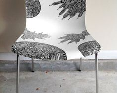 IKEA ERLAND Chair Hand Drawn Sharpie