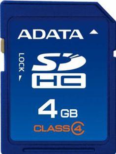 Card de memorie ADATA SDHC 4GB Secure Digital Card