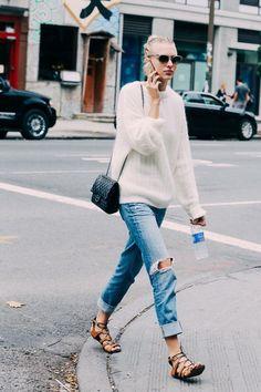 Suéter e Jeans é uma ótima combinação para o inverno