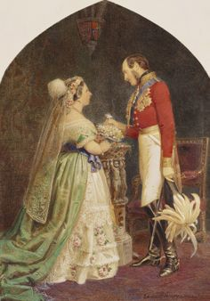 Queen Victoria and Prince Albert, after a drawing room, 1854 | Royal Collection Trust