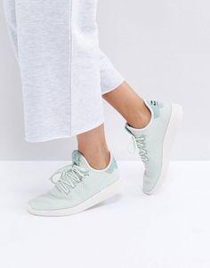 adidas Originals X Pharrell Williams Tennis HU Sneakers In Pale Green 9bd5cc617
