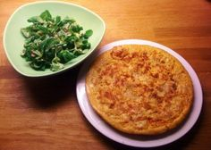 Spanish omelette with green salad