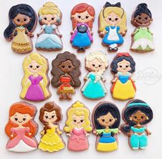 My wife made some Disney princess cookies for our daughter's birthday : cookiedecorating