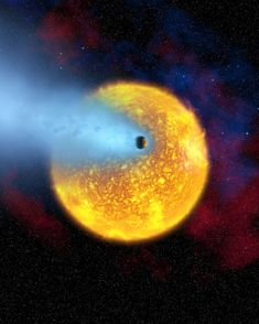 "HD 209458 b (nickname ""Osiris"") - The first planet to be seen in transit (crossing its star) and the first planet to have it light directly detected. The HD 209458 b transit discovery showed that transit observations were feasible and opened up an entire new realm of exoplanet characterization. Credits: NASA, European Space Agency, Alfred Vidal-Madjar (Institut d'Astrophysique de Paris, CNRS)"