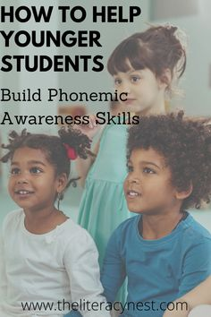 What are the most important phonemic awareness skills to teach your younger students? Find valuable tips to help build confident readers! The Literacy Nest Dyslexia Activities, Phonemic Awareness Activities, Phonological Awareness, Phonics Activities, Teacher Resources, Phonics Words, Teaching Techniques, Reading Intervention, Listening Skills