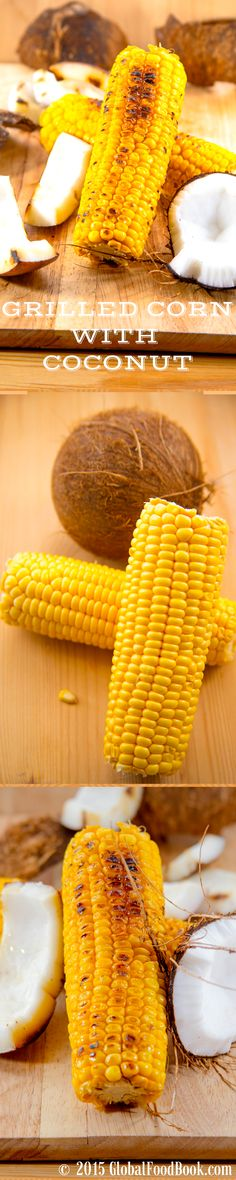 NICE ROASTED SWEET CORN WITH COCONUT