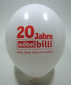 #Werbeballon zum Jubiläum eines #Möbelhauses