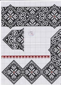 МОИ ПЕТЕЛЬКИ: Квітуча краса вишиванки 4 Ribbon Embroidery, Cross Stitch Embroidery, Embroidery Patterns, Cross Stitch Patterns, Knitting Charts, Knitting Patterns, Russian Cross Stitch, Parchment Design, Palestinian Embroidery