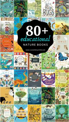 We're sharing the best educational nature books for kids. These beautiful nature-inspired children's books will become some of your child's favorites. Good Books, Books To Read, Wild Book, Theme Nature, Nature Poem, Kids Running, Nature Study, Book Recommendations, Book Lists