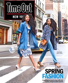 """The Quann Sisters Land The Cover of TimeOut Magazine in The """"Seven Most Fashionable New Yorkers"""" Spring Fashion Issue"""