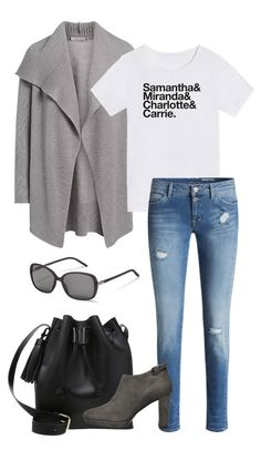 A cozy cardigan, high waist jeans and matching Rodenstock sunglasses – the perfect outfit for beautiful fall days.