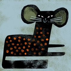 nannaillustrations - cat dressed as a mouse