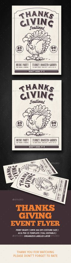 thanksgiving Festival Flyer Template PSD