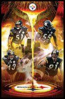 Steelers Defense Pittsburgh Steelers Framed Poster