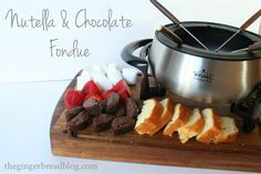 The Gingerbread Blog: Nutella and Chocolate Fondue Recipe