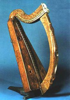 The harp which is depicted on Ireland's coins. One of Ireland's national treasures it is kept at Trinity College in Dublin, along with the Book of Kells. It is also the harp upon which the Guinness Company designed their famous logo.