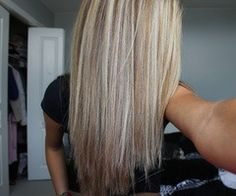 Platinum highlights with medium (ash) blonde lowlights