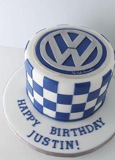 Volkswagen Cake -The Cake Crusader, Custom cakes in Western MA Volkswagen, Bmw Cake, Car Cakes For Men, Carros Vw, Cake Design For Men, Golf Birthday Cakes, 40th Cake, Hubby Birthday, Dream Cake