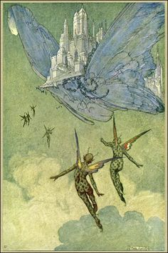Franklin Booth (1874–1948). Illustration from James Whitcomb Riley's The Flying Islands of the Night (1913).