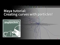 Maya: creating curves with particles - YouTube