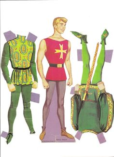 "Prince Phillip 1969.  WHITMAN #1984:69, Walt Disney Presents ""Sleeping Beauty"", paper dolls and costumes."