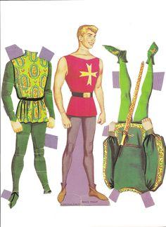 "Prince Phillip 1969.  WHITMAN #1984:69, Walt Disney Presents ""Sleeping Beauty"", paper dolls and costumes."