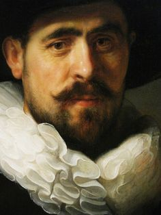 Portrait Of A Bearded Man In A Wide-Brimmed Hat (Detail) By Rembrandt, 1633
