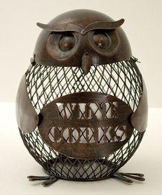 Loving this Owl Cork Cage on #zulily! #zulilyfinds