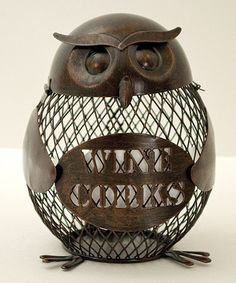 Look at this #zulilyfind! Owl Cork Cage #zulilyfinds