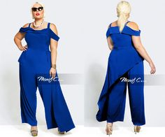 61f2dbaba71d  PlusModelMag Plus Fashion Find  Nadia Cold Shoulder Jumpsuit From Monif C.   PlusModelMag