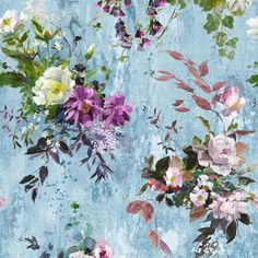 Aubriet+Slate+Blue+Fabric+|+Designers+Guild